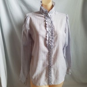 Vintage Arrow Cotton Long Sleeve Western Shirt L